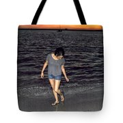 008 A Sunset With Eyes That Smile Soothing Sounds Of Waves For Miles Portrait Series Tote Bag