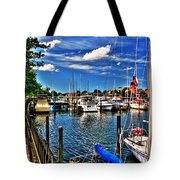 009 On A Summers Day  Erie Basin Marina Summer Series Tote Bag