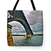 009 Stormy Skies Peace Bridge Series Tote Bag