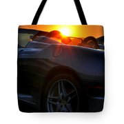 01 Ferrari Sunset Tote Bag