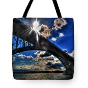 010  Peace Bridge Series II Beautiful Skies Tote Bag