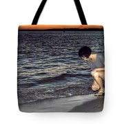 011 A Sunset With Eyes That Smile Soothing Sounds Of Waves For Miles Portrait Series Tote Bag