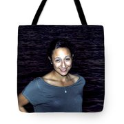 012 A Sunset With Eyes That Smile Soothing Sounds Of Waves For Miles Portrait Series Tote Bag