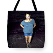 013 A Sunset With Eyes That Smile Soothing Sounds Of Waves For Miles Portrait Series Tote Bag