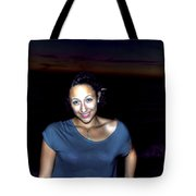 014 A Sunset With Eyes That Smile Soothing Sounds Of Waves For Miles Portrait Series Tote Bag
