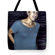 015 A Sunset With Eyes That Smile Soothing Sounds Of Waves For Miles Portrait Series Tote Bag