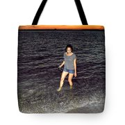 018 A Sunset With Eyes That Smile Soothing Sounds Of Waves For Miles Portrait Series Tote Bag