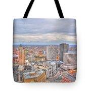 037 Series Of Buffalo Ny Via Birds Eye Downtown Buffalo Tote Bag