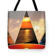 0a Relaxing Sunsets Collage Tote Bag