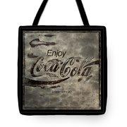 Coca Cola Sign Grungy Red Retro Style Tote Bag