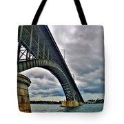 009 Stormy Skies Peace Bridge Series Tote Bag