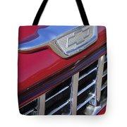 1955 Chevrolet Pickup Truck Grille Emblem Tote Bag