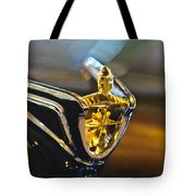 1956 Lincoln Premiere Convertible Hood Ornament Tote Bag