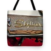 1957 Ford Skyliner Retractable Hardtop Emblem Tote Bag