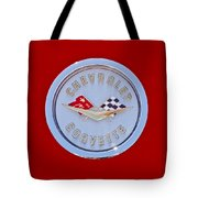 1958 Chevrolet Corvette Emblem Tote Bag