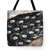 81mm Mortar Rounds Ready Stacked Ready Tote Bag
