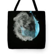 A Balloon Is Popped By A Gun Tote Bag