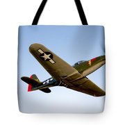 A Bell P-63 Kingcobra In Flight Tote Bag