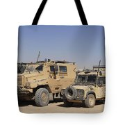 A British Armed Forces Snatch Land Tote Bag
