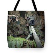 A British Army Sniper Team Dressed Tote Bag