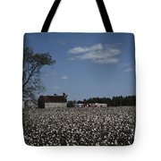 A Cotton Field Surrounds A Small Farm Tote Bag
