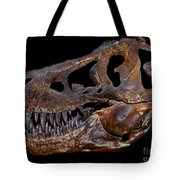 A Genuine Fossilized Skull Of A T. Rex Tote Bag