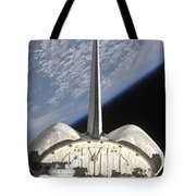 A Partial View Of Space Shuttle Tote Bag