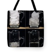 A Pitcher Of Ice Melts Over 4 Hours Tote Bag
