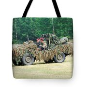 A Recce Unit Of The Belgian Army Tote Bag
