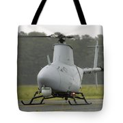 A Rq-8a Fire Scout Unmanned Aerial Tote Bag