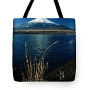 A Scenic View Of Mount Fuji Taken Tote Bag