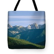 A Scenic View Of The Rocky Mountains Tote Bag