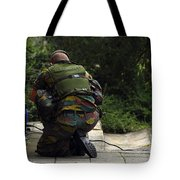 A Soldier Of The Belgian Army Tote Bag