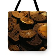 A Still Life Of Old Watch Faces Tote Bag