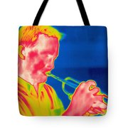 A Thermogram Of A Musician Playing Tote Bag