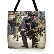 A U.s. Army Soldier Provides Security Tote Bag