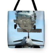 A U.s. Navy Mh-60s Seahawk Helicopter Tote Bag