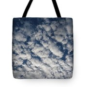 A View Of A Cloud-filled Sky Over Miami Tote Bag