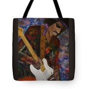 Abstract Jimi Hendrix Tote Bag