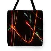Abstract Motion Lights Tote Bag