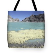 Acidic Crater Lake, Kawah Ijen Volcano Tote Bag