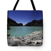 Acidic Crater Lake On Kawah Ijen Tote Bag