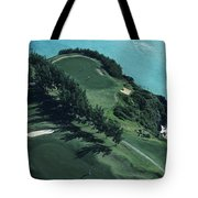 Aerial Of A Golf Course In Bermuda Tote Bag