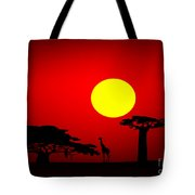 Africa Sunset Tote Bag