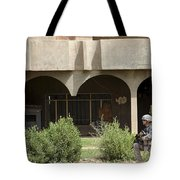 Airman Conducts Security Tote Bag
