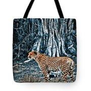 Alert Cheetah Tote Bag by Darcy Michaelchuk