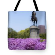 Allium Flower At The Boston Common Tote Bag