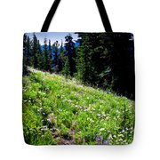Alpine Meadow Vii At Mount Rainier Tote Bag