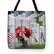 American Flags Placed In The Front Tote Bag