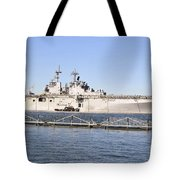 Amphibious Assault Ship Uss Wasp Tote Bag